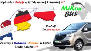 Przewóz osób i paczek do Niemiec i Holandii